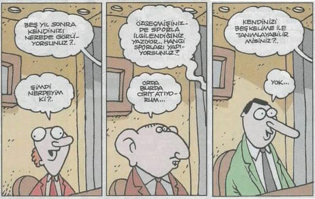 yiğit özgür iş görüşmesi karikatürü