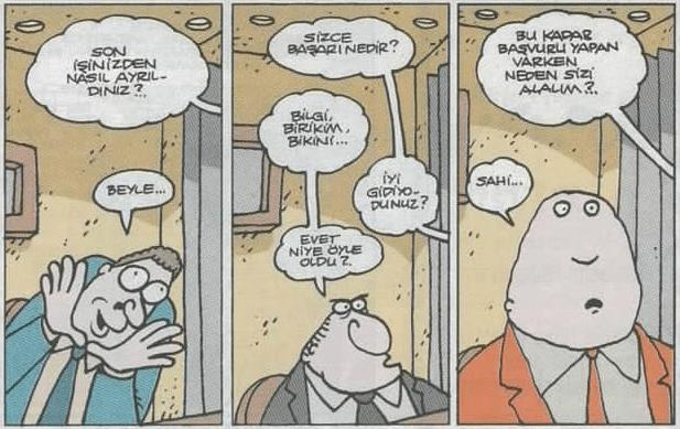 mülakat karikatürü yiğit özgür