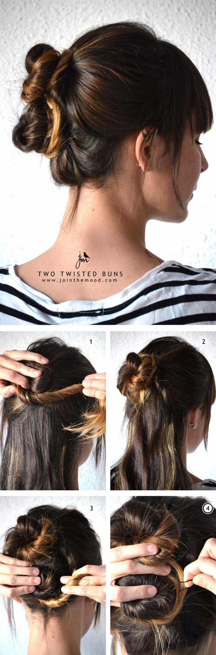 işe giderken yapılacak kolay saç modelleri topuz