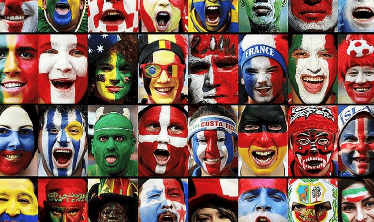 Dünya Kupası Grupları Yüz Makyajı